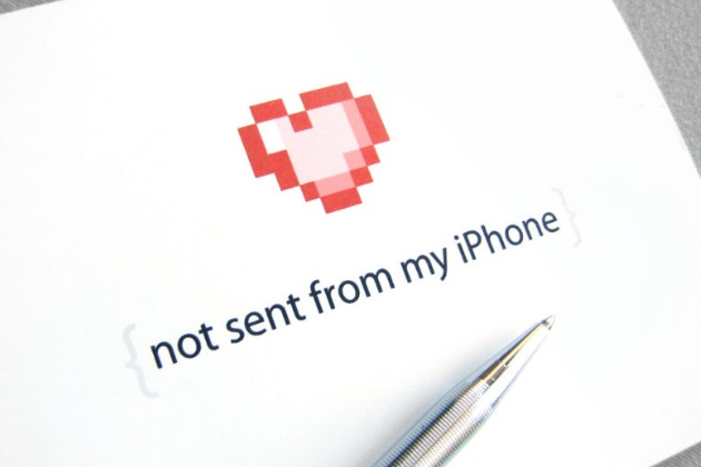 Not Sent From My iPhone Valentines Card