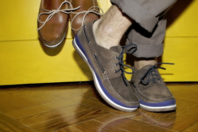buttero ss13 canvas detail boat shoe lifestyle