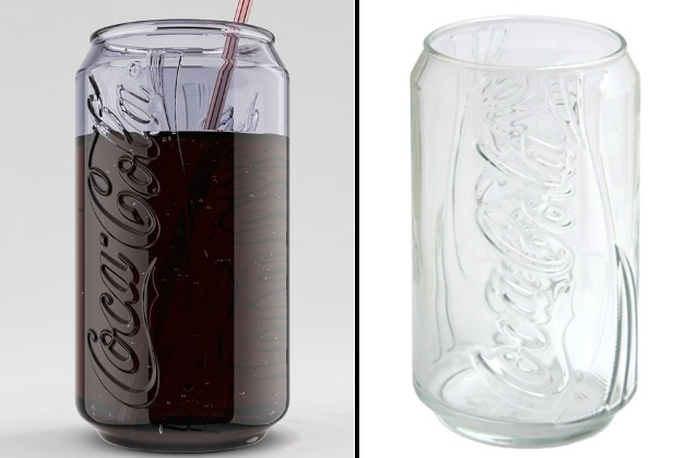 coca cola can glass dynamic ribbon