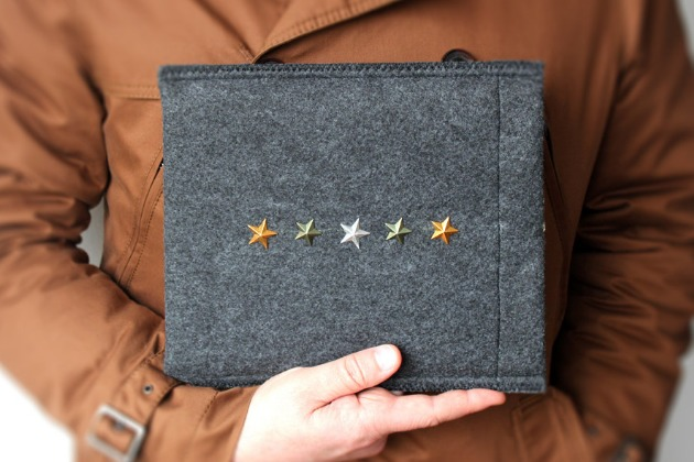 military ipad case in the hand