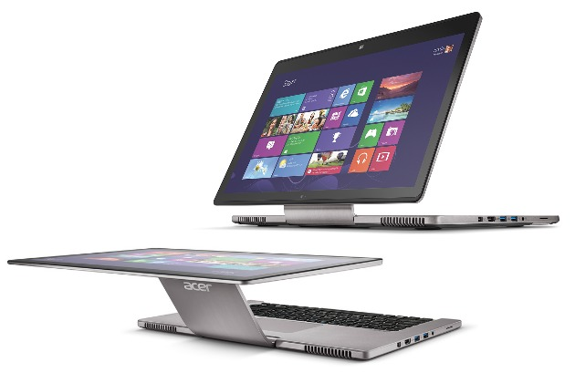 acer aspire r7 front and side view