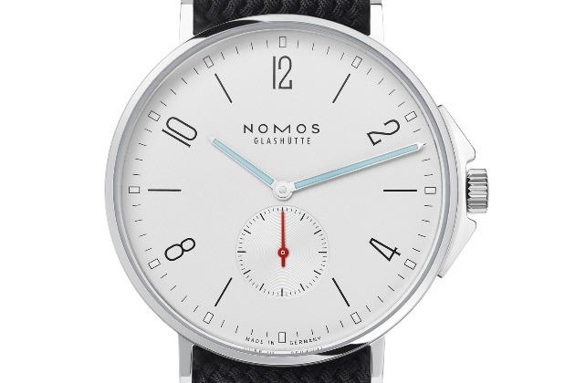 nomos glashuette ahoi white color watch