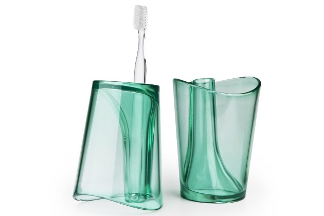 flip cup store toothbrush holder
