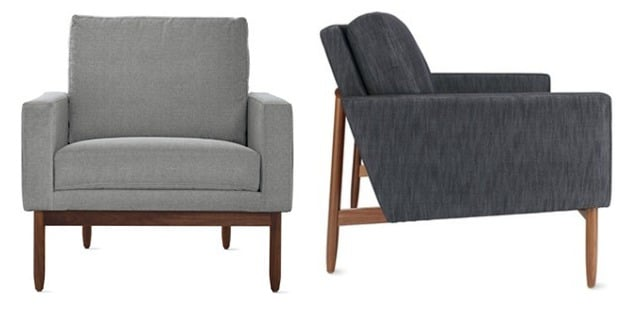 raleigh armchair by jeffrey bernett and nicholas dodziuk