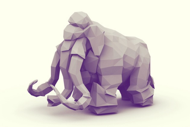 Wooly Mammoth Print