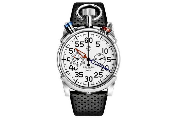 ct scuderia corsa watch white color