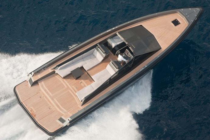 wally 55 boat on the sea