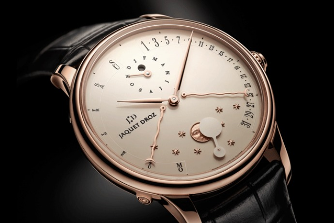 aquet droz perpetual calendar eclipse gold color watch