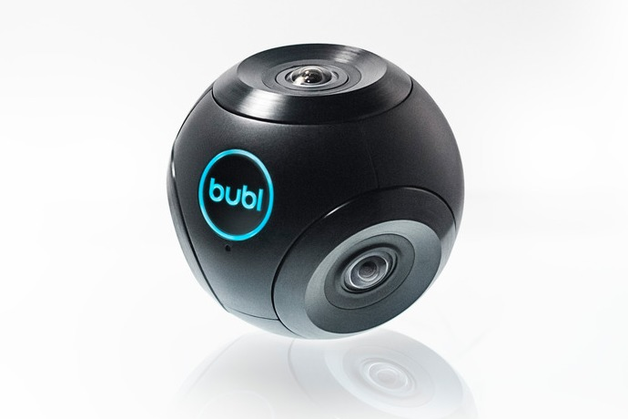 bublcam 360º camera front and side view