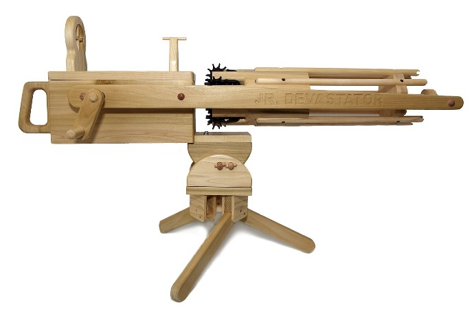 magnum enterprises rubber band gatling gun hardwood