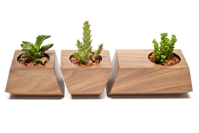 boxcar succulent planters making wood