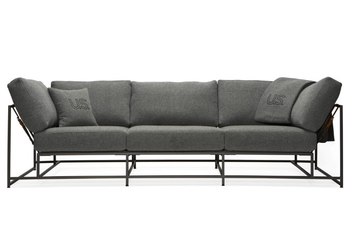 stephen kenn city gym sofa black frame