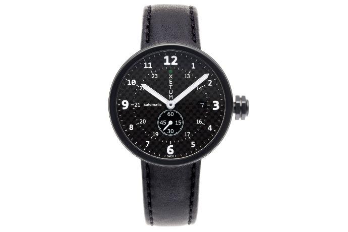 black tyndall pvd carbon watch