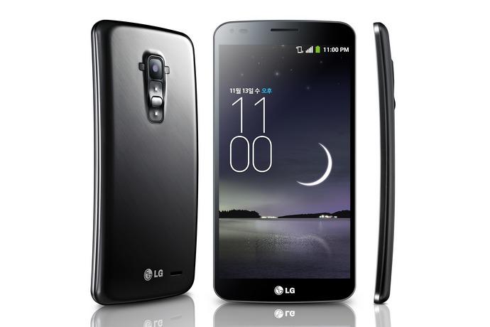 lg g flex curve smartphone view
