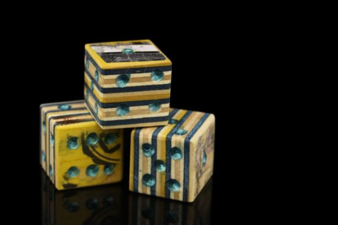 recycled skateboard dice material