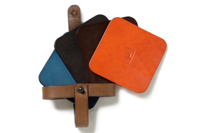 various color leather coasters