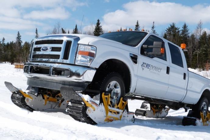 snow track n go car