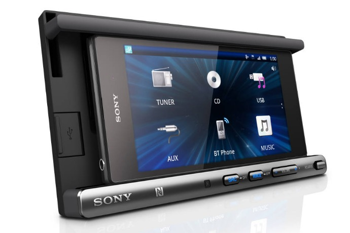 sony car cradle and smartphone receiver