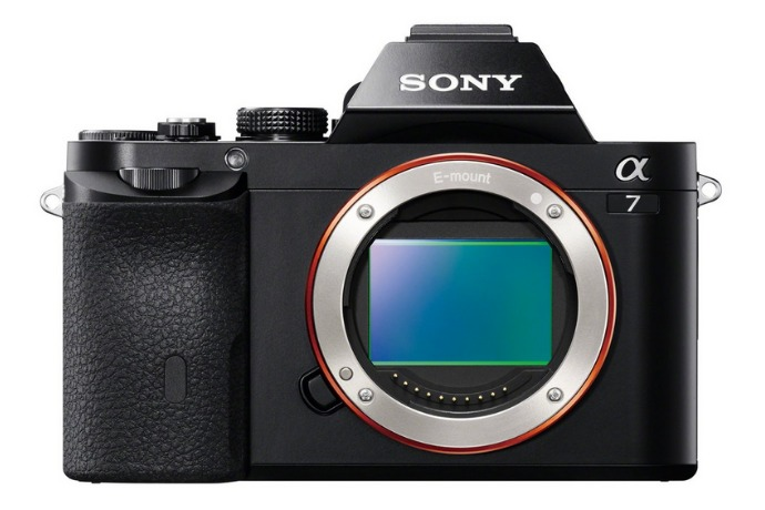 sony a7 camera back side