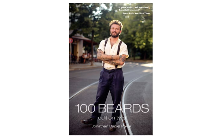 100 beards 100 days men standing