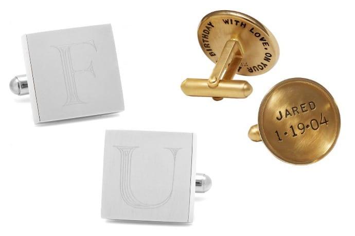 initials classic cufflink
