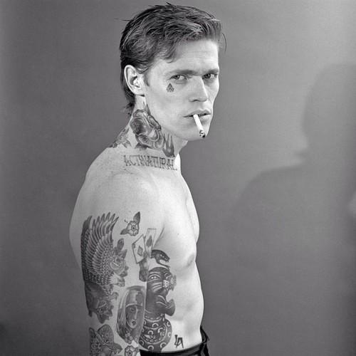 soprano tattoo men smoking