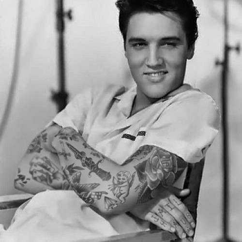 elvis presley with tattoo