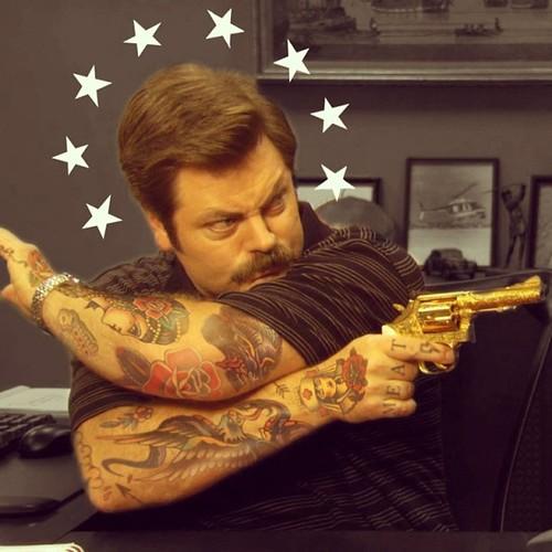 ron swanson golden gun