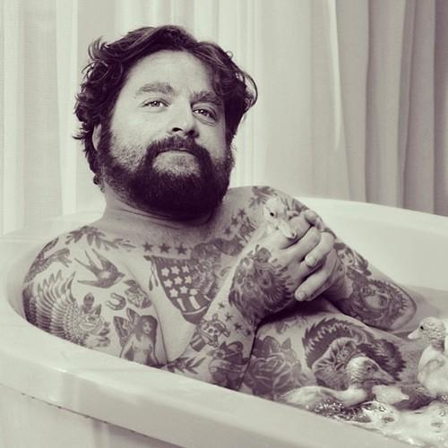 soaking in the bath