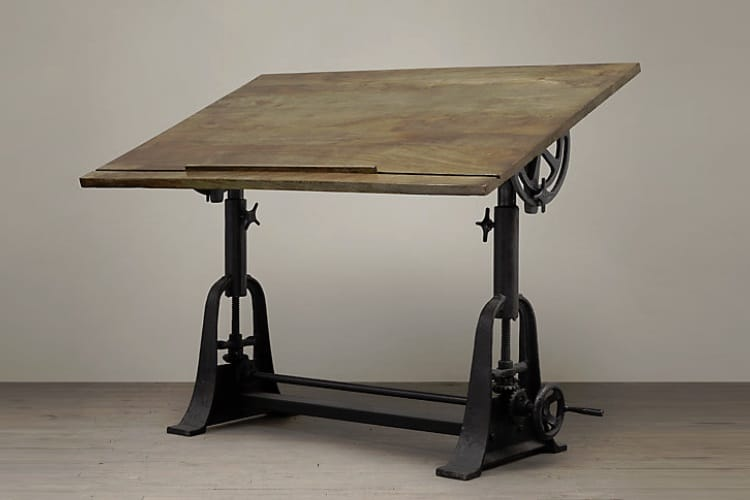 1910 American Trestle Drafting Table Top