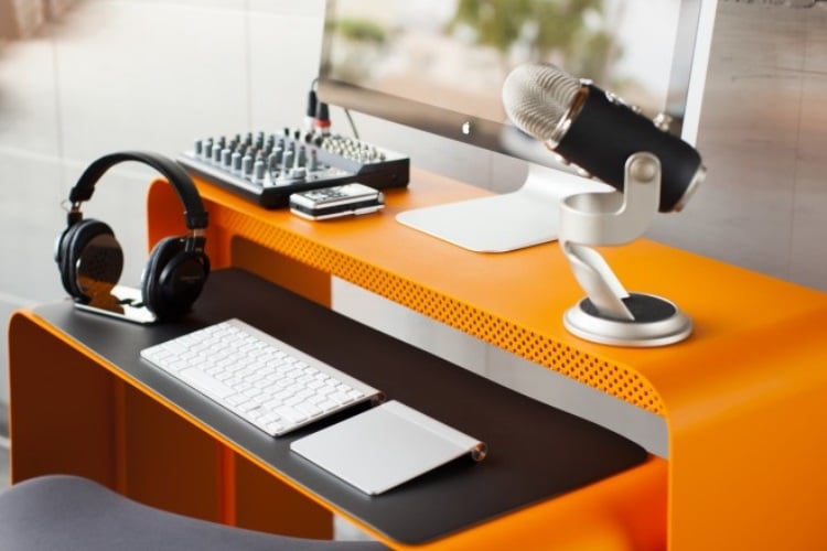 heckler design oneless desk orange color & 25 Best Desks for the Home Office | Man of Many