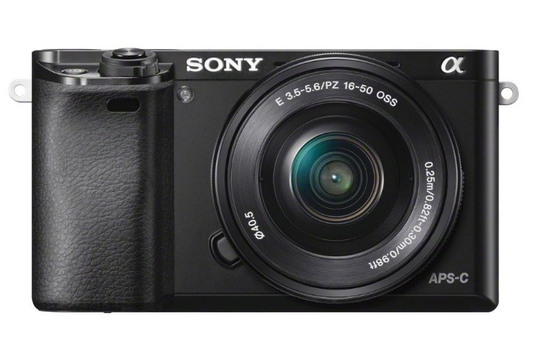 sony a6000 camera front and side view