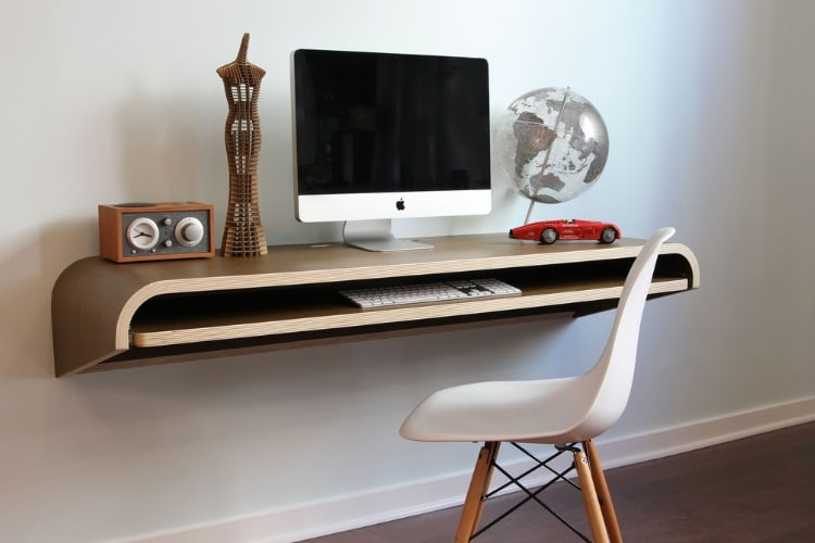 minimal wall desk - Home Office Desk Design