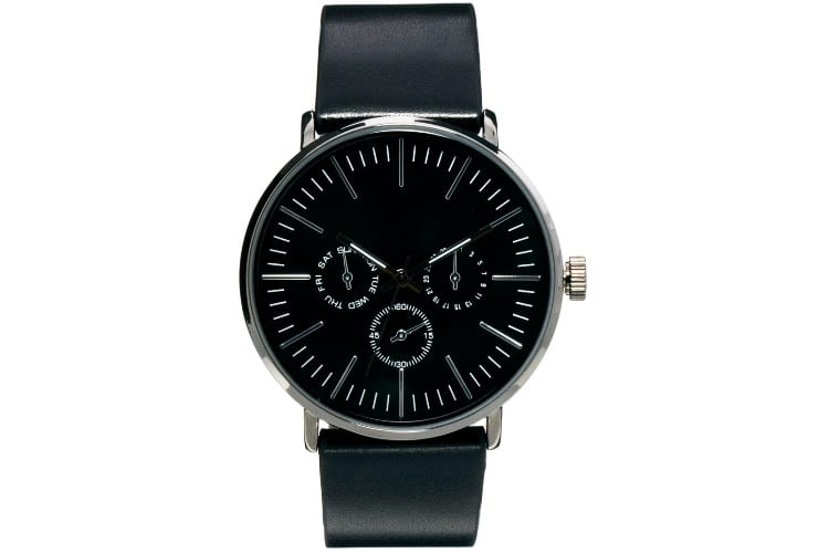 asos black strap watch