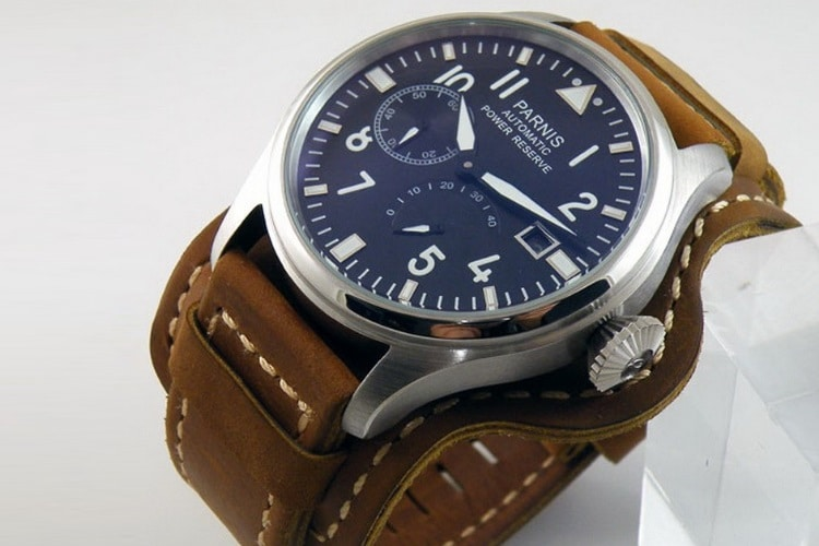 parnis big pilot power reserve watch