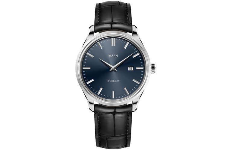 maen 39 date in midnight blue watch