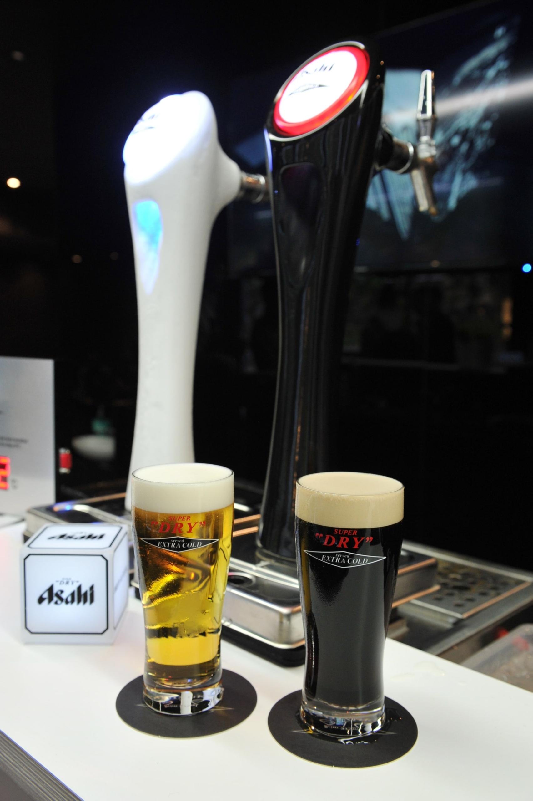 asahi super dry bar two bottle whisky