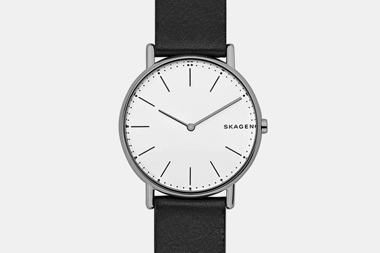 skagen signature black analogue watch