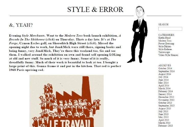 Style & error