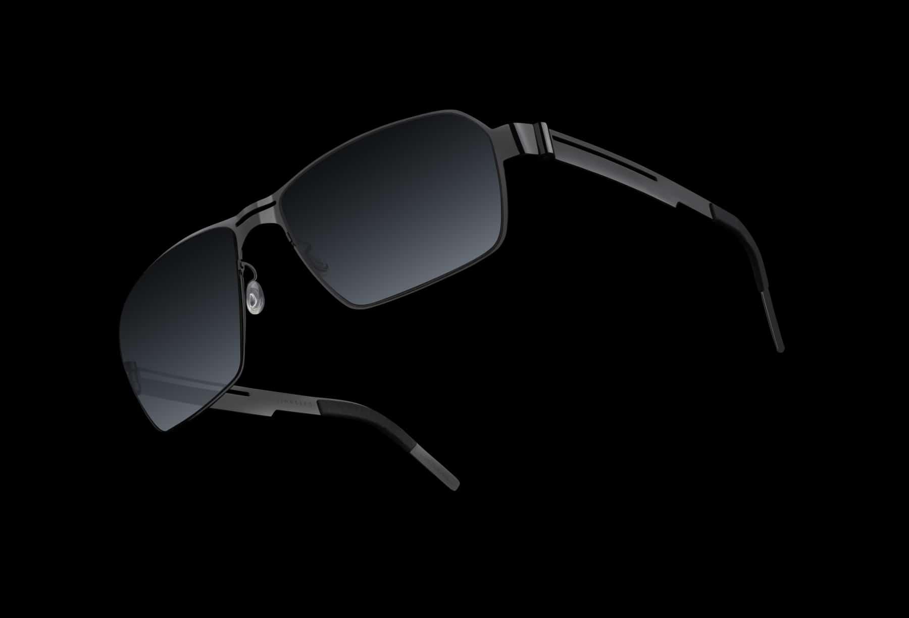 lindberg 5000 solid gold sunglasses black lens