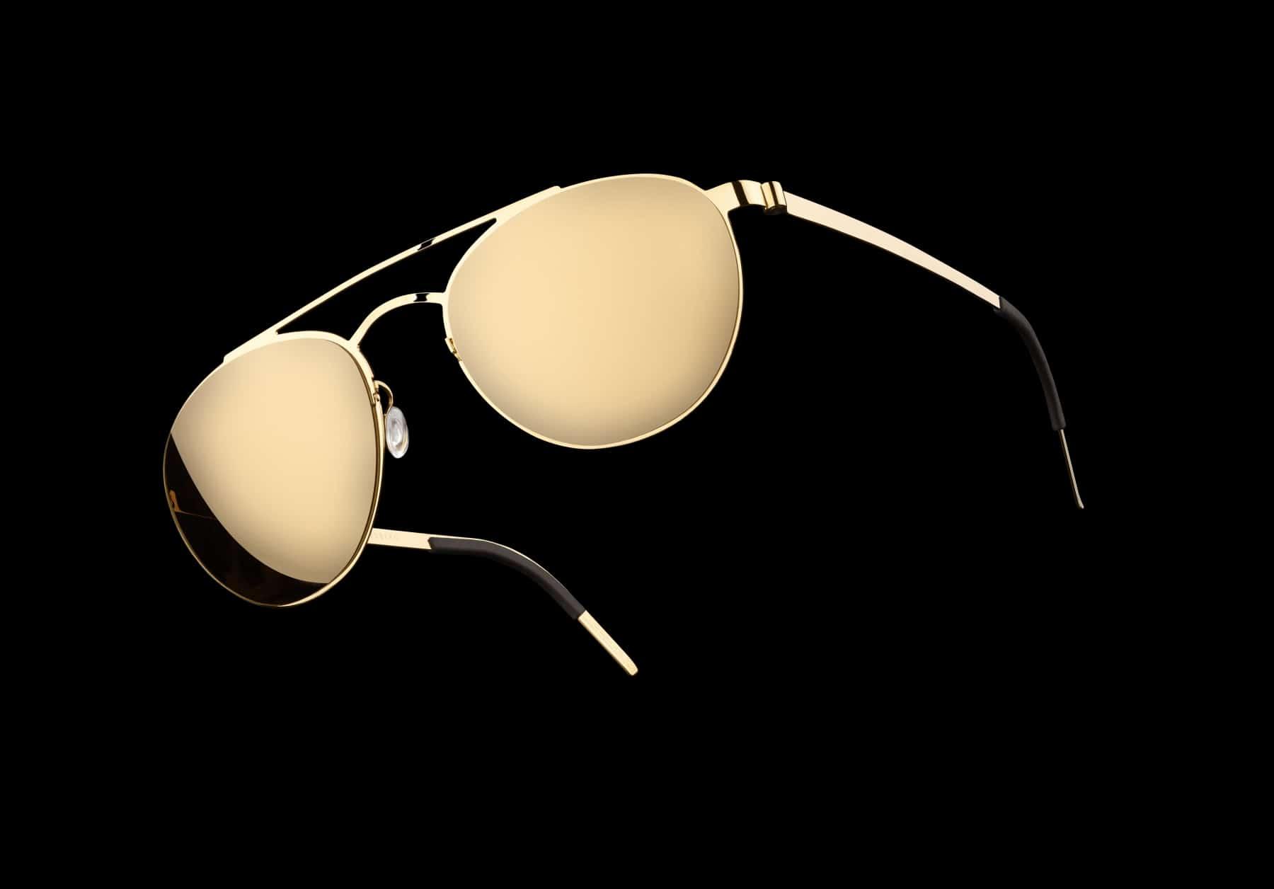 lindberg 5000 solid gold sunglasses front