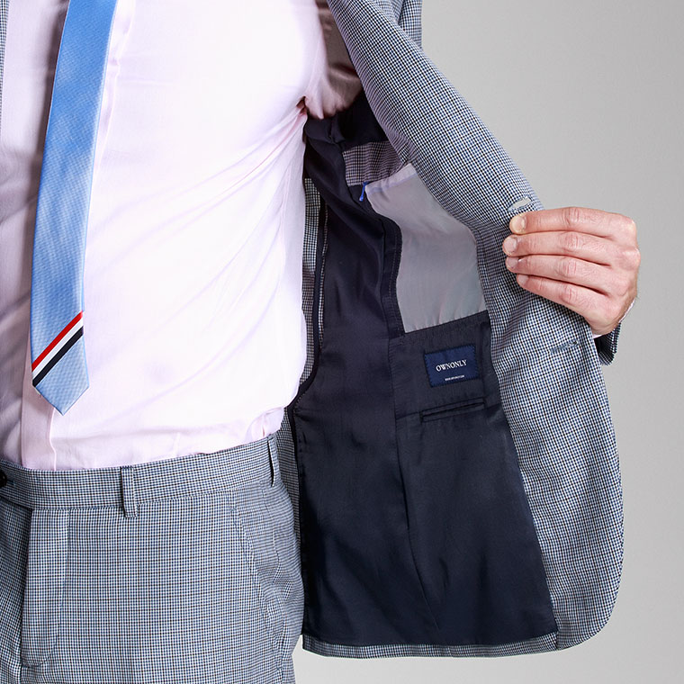 bespoke suit inside a pocket