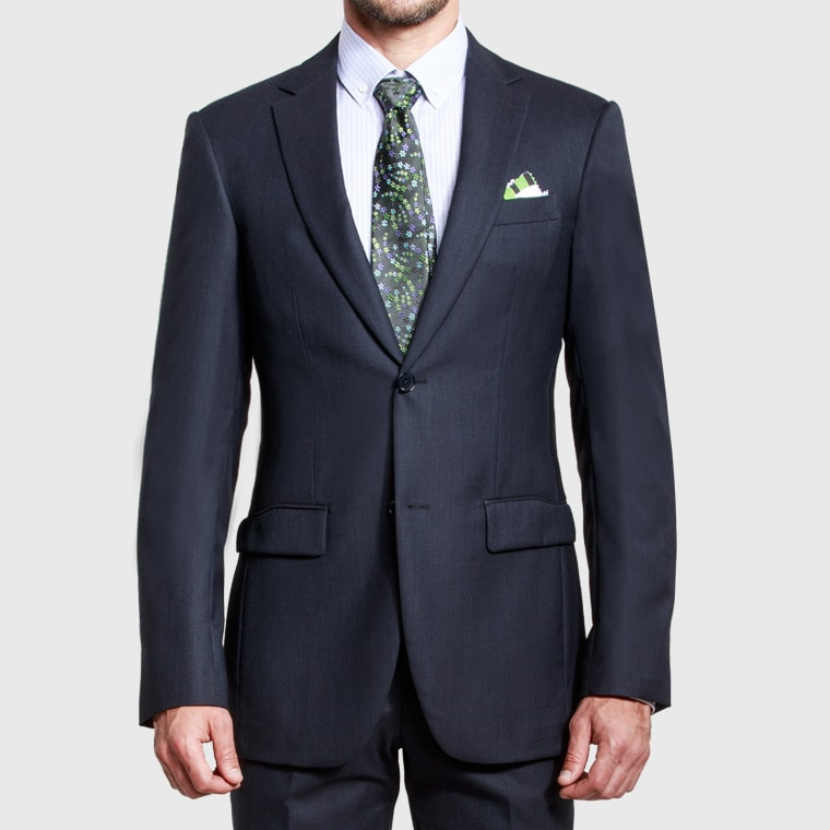 flexible and timeless style black suit