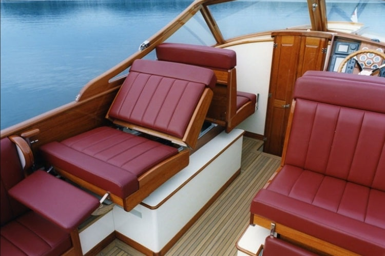 geronimo wooden boat luxury seat