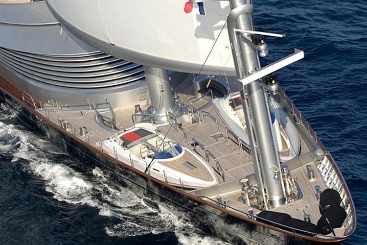 maltese falcon wooden boat front