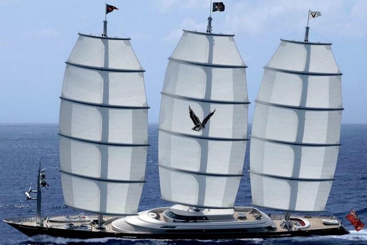 maltese falcon wooden boat