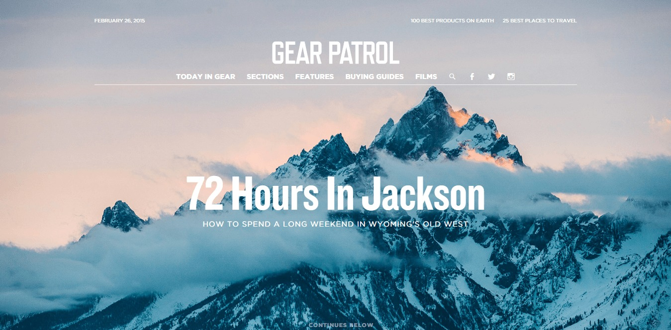 gear patrol spirit of adventure passion for gear