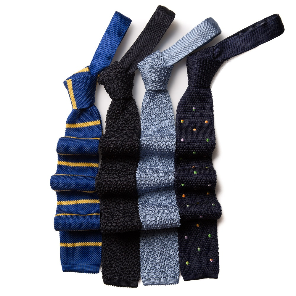 different colour Knitted Ties