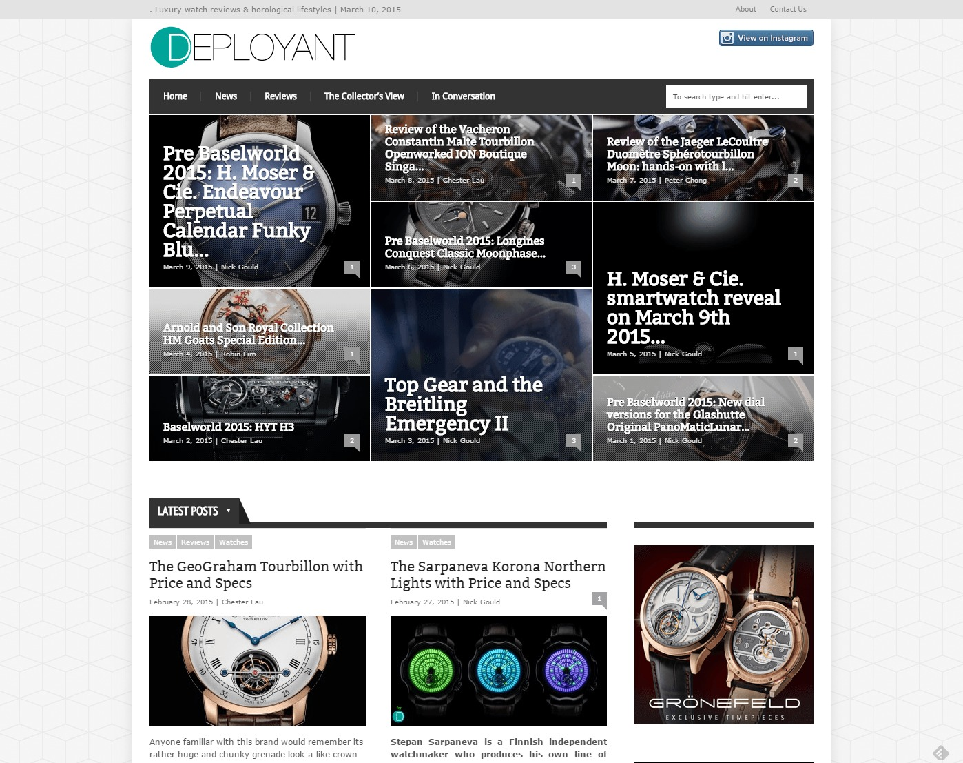 DEPLOYANT. Luxury watch reviews horological lifestyles For the Collector By the Collector