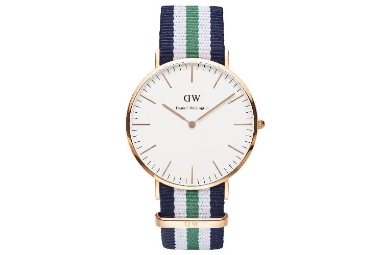 daniel wellington nottingham rose gold watch